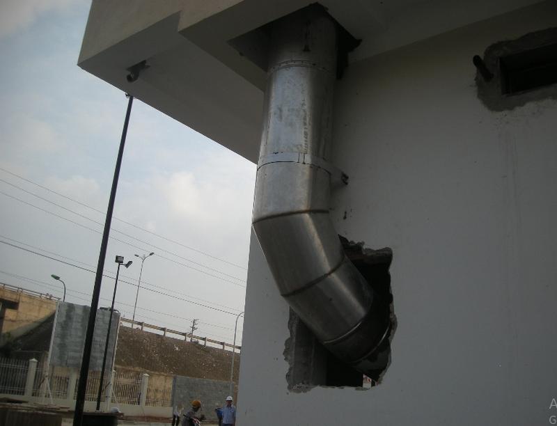 ống thu rác inox 201