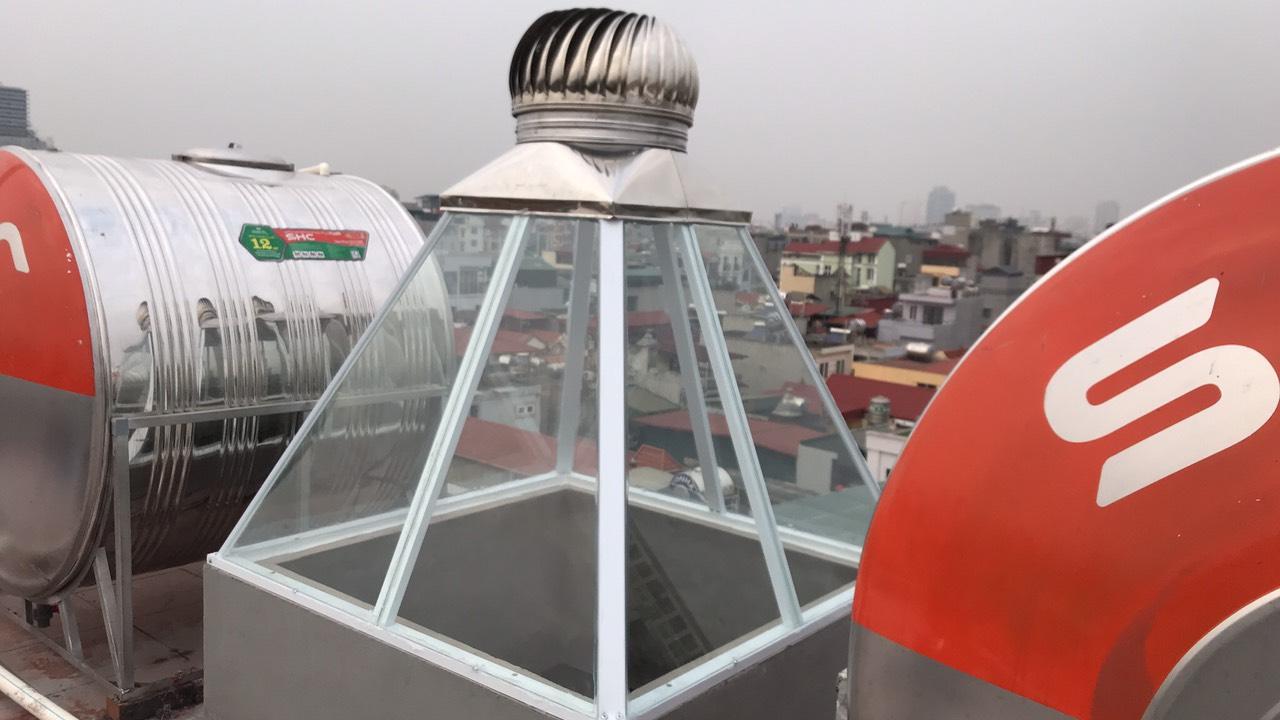 Mái tum kính lắp quả cầu giếng trời có cấu tạo thế nào?